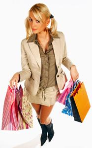 Liquidität für Einkaufen und Shoppen